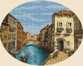 Counted Cross Stitch Kit Venetian Morning