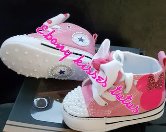 BLING Minnie mouse infant converse