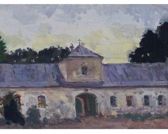 Monastery, (10.6x 25.5inches)