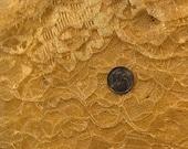 destash canary yellow lace scrap