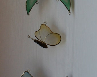 Vintage Tulip and Butterfly Wind Chime/Mobile