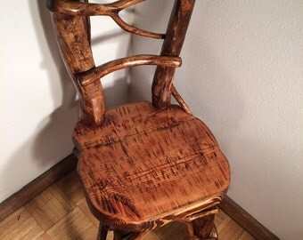 SOLD-Log Dining Chair