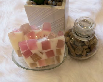 Patience - Mauve and Brown Handcrafted Glycerin Soap