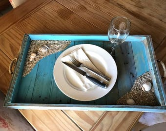 Rustic Beach Serving Tray