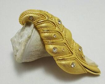 SWAROVSKI Clear Stone Leaf Pin