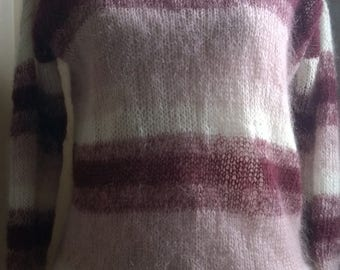 Degraded color mohair sweater, size small