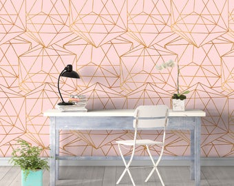geometric glam wall covering art removable self adhesive wallpaper - Wall Covering Designs