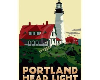 Portland Head Light 24x36 print © Alan Claude