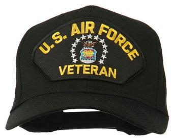 US Air Force Veteran Military Patch Cap