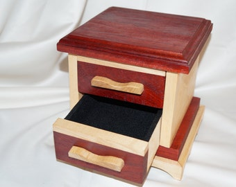 Padauk Jewelry Box