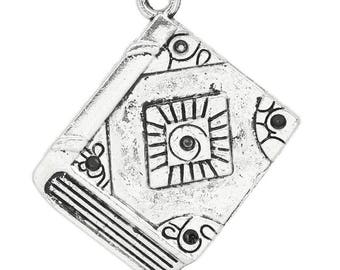 Antique Silver Book Charm