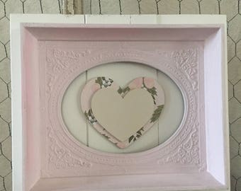 Pink framed heart