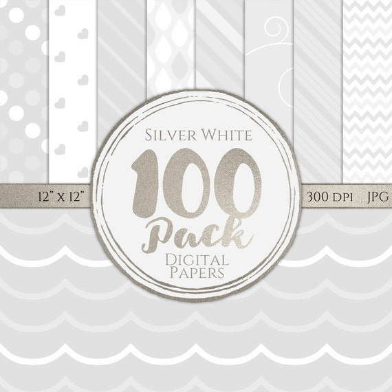 Digital Paper 100 Pack - Silver White - Commercial Use