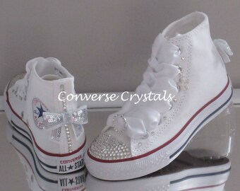 Junior Custom Crystal *Bling* Converse Size 11-2. Other Colours Available
