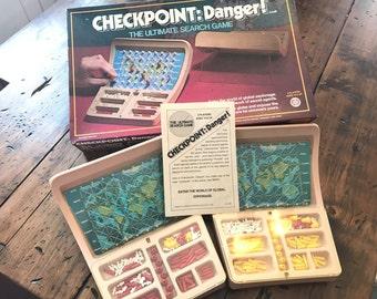 Vintage 1978, Checkpoint:Danger! Board Game, Battleship, Spy Game (A327)