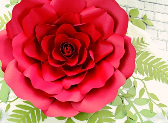 Giant paper rose flowers paper rose flower wall printable rose il570xn mightylinksfo