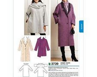 Kwik Sew Pattern #3739 MISSES XS-XL Uncut Misses Coats