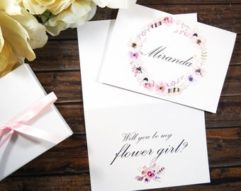 Will You Be My FLOWER GIRL Card, Will You Be My Flower Girl, Flower Girl Card, Flower Girl Gift, Flower Girl Proposal, Flower Girl Box