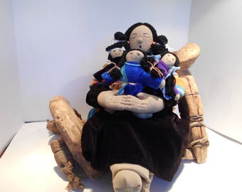 Native American Story Teller Dolls, rag doll, Story teller doll, Hopi Storyteller
