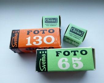 SET of four pieces SVEMA FOTO-130,65 and 65 Soviet B/W film Expired 1986-89