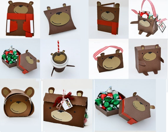 Very Beary Christmas - Layered Vector Cutting Files for Cutting Machines - Includes PDF, SVG, AI, E.P.S - Layered Images with Instructions