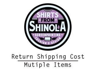 Exchange Return Shipping Fee, Multiple Items