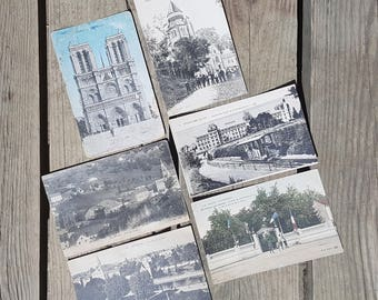 Set of 6 postcards written vintage