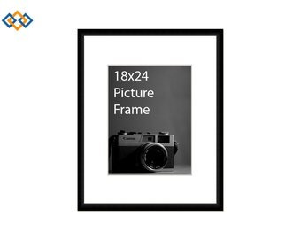 18x24 standard picture frame black