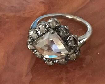 14k Brilliand Rose Cut Diamond Ring size 6.25