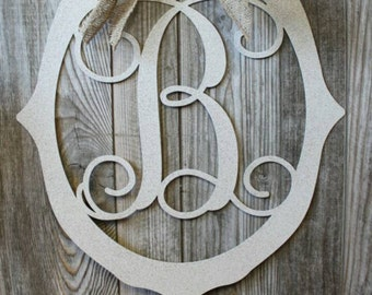 Metal Door Hanger Initials