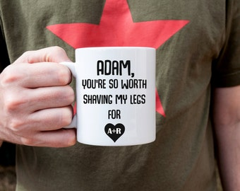 Valentines Day gift, Personalized Valentines gift,  Gift for him, Valentines gift, Personalised mug, Gift for boyfriend, Gift for husband