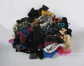 Fabric scraps destash - craft supplies - range of colours and textures - mixed fabric bulk supplies for epp, scrapbooking, stuffing and diy