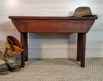 Bench, Rustic Bench, Walnut Bench, Foyer Bench, Farmhouse Bench, Bedroom Bench, Mudroom Bench,  Porch Bench, Reclaimed Wood Bench, Furniture