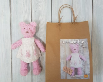 Clementine Bear Knitting Kit - Make Your Very Own Teddy Bear - Easy To Knit Pattern