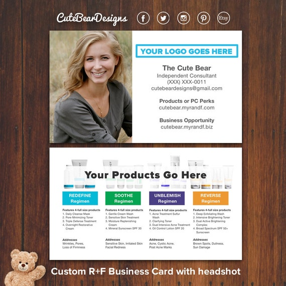 Custom RF Business Card With Headshot By CuteBearDesigns
