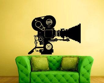 rvz2466 Wall Decal Vinyl Decal Sticker Cinema Video Camera Movie Retro Old School