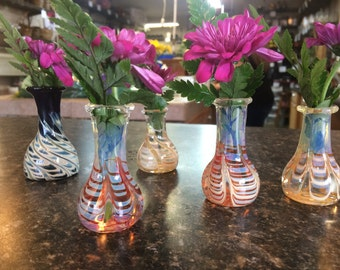 Handblown Glass Vases (Bud vases)