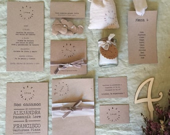 Kraft Collection - Full Stationery for your wedding ( 50 guest)