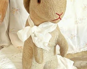 Antique fabric Bunny rabbit