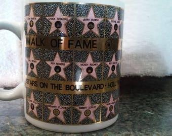 1992 Walk of Fame coffee tea cup mug Stars of the Boulevard Hollywood Ca