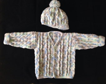 Baby Sweater and Cap