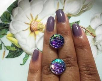 Oaris (Lilac Mermaid Earrings)