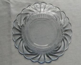 Moonlight Blue Swirl Plate