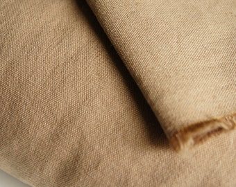 Tan Hemp Organic Cotton Canvas Fabric by 1/4 Metre, Organic Woven Fabric, Organic Cotton Canvas Fabric, Hemp Fabric, Eco-Friendly Apparel