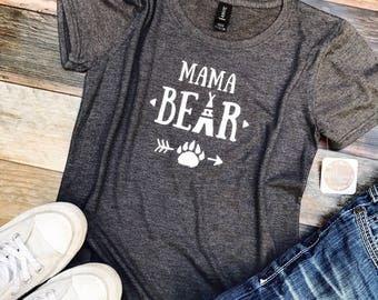 Mama Bear shirt - Mom shirts - Bear shirts for mom - mom life - Womens clothing - Mommy bear - Christmas gift for her