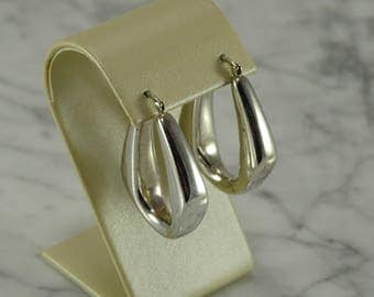 Sterling Silver Large Hoop Earrings (pierced)
