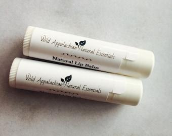 Peppermint Lip Balm; Organic Mint Lip Balm, All Natural Lip Butter, Shea Lip Balm