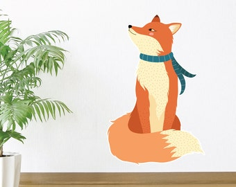 Curious Fox Wall Decal
