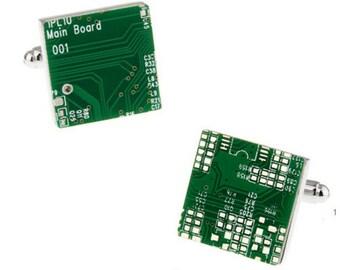 Circuit Board Cufflink - KraZy 1
