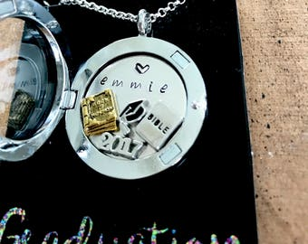 LDS Seminary Graduate Locket Necklace -custom personalization available Institute or seminary